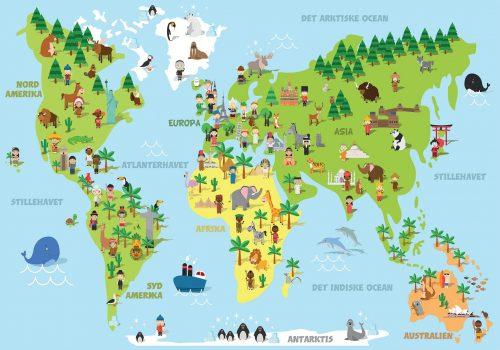 Verdenskort plakat - Verden