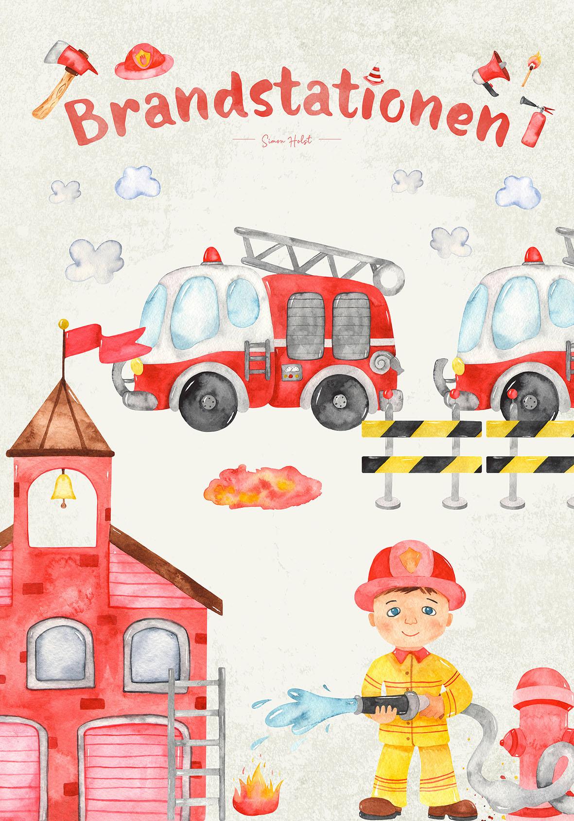 brandmand kort