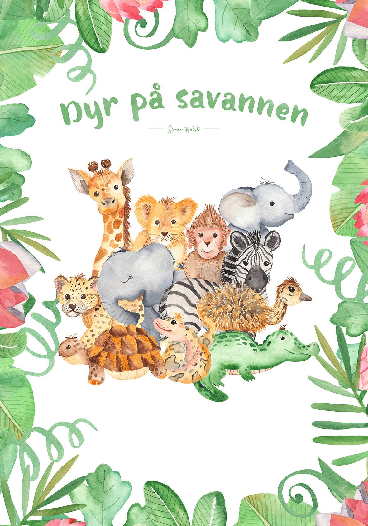 Dyr på savannen kort
