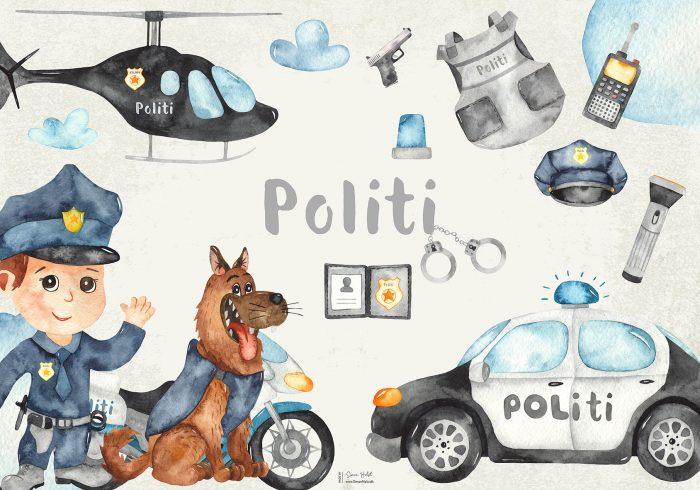 Politi Plakat
