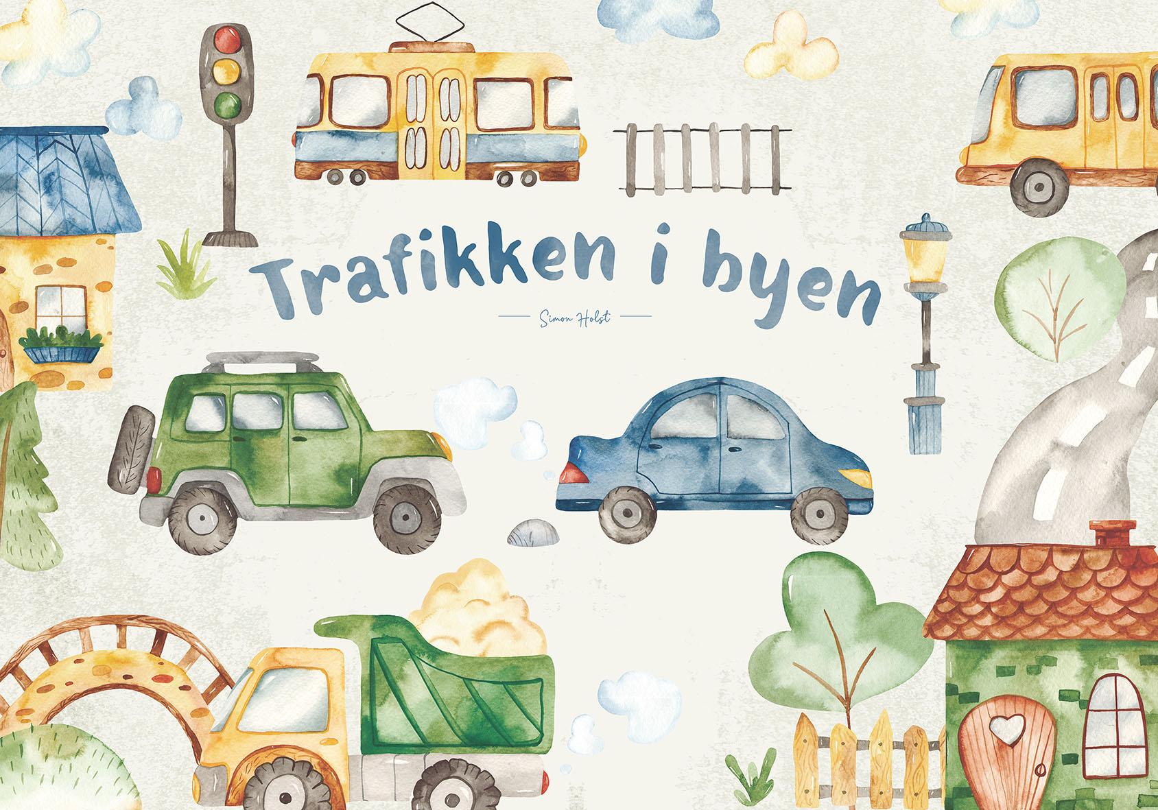 Børneplakat Trafik